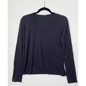 Eileen Fisher Top Silk Shirt Long Sleeve Small